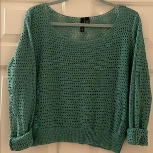 Loosely knit sweater - gorgeous gem green
